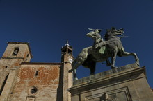 Old Church And Statue Of Franc...