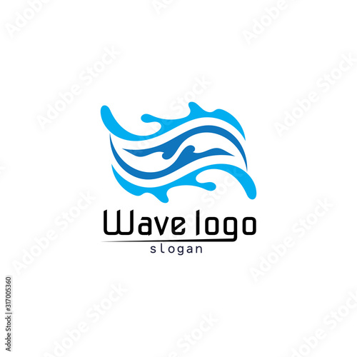 Waves beach logo and symbols template icons app Canvas Print