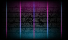 Blue Purple Neon Laser Lines O...
