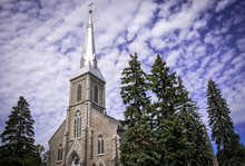 Front View Of Cathedral Of St. Peter-In-Chains In Peterborough, Ontario, Canada