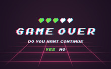 Game Over Vector Pixel Backgro...