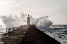 Powerful Waves Break Down To T...