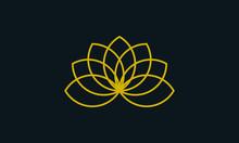 Vintage Minimalist Line Art Flower Logo.