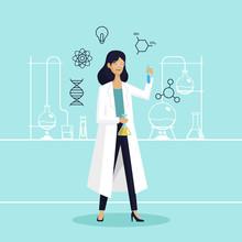Female Scientist In Lab Checki...