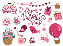 Valentine's Day Cute Vector Il...