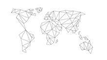 Polygonal Abstract World Map. ...