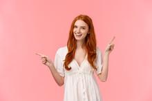 Happy Alluring Redhead Female ...