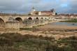 river loire and old bridge in gien (france)