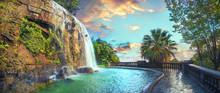 Waterfall In Castle Hill Park ...