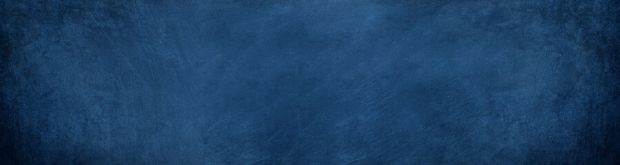 wide horizontal dark blue cement and overlay on chalkboard background