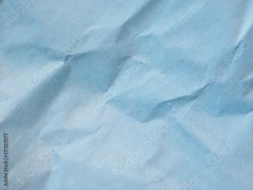 Fotografie, Tablou  blue crinkled paper texture background