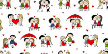 Couple In Love Kissing, Valent...