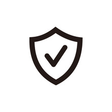 Verified Protection Icon. Control Symbol. Privacy Pictogram, Flat Vector Sign Isolated On White Background