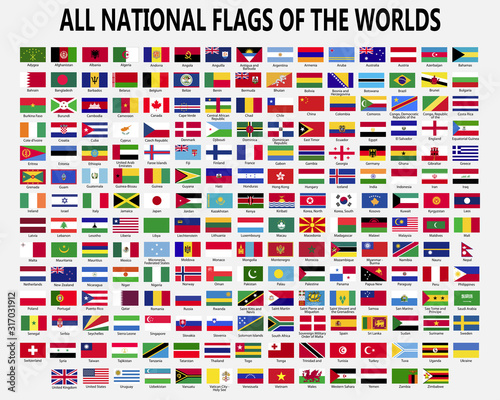 Fototapeta All national flags countries of the world. obraz