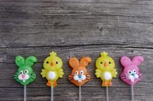 Candy Lollipop Chicks And Bunn...