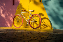 Bicycle Against A Vibrant Wall...