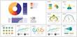 canvas print picture - Colorful infographic diagrams set
