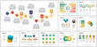 canvas print picture - Colorful planning or strategy concept infographics set