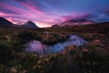 View Of Cuillin Hills During S...