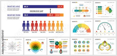 Photo Creative infographic design set