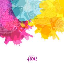 Colourful Splash With Mandala ...
