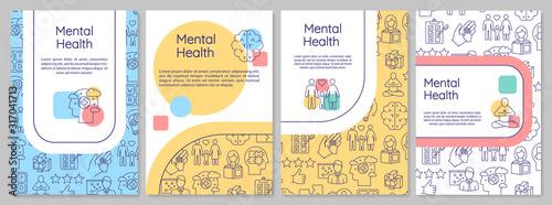 Fotomural Mental health brochure template