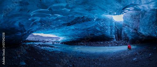 Ice cave at jokulsarlon glacier in Iceland