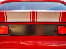 Old Retro Vintage Red American...