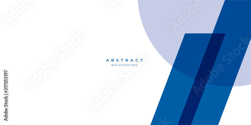 Fototapety, obrazy:  Simple blue white abstract background geometry shine and layer element vector for presentation design. Suit for business, corporate, institution, party, festive, seminar, and talks.