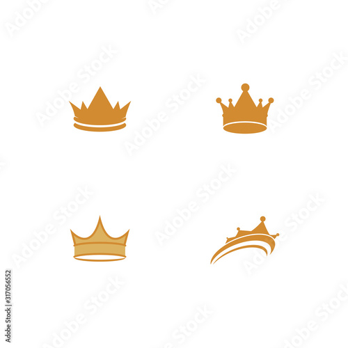 Set Crown Logo Template vector icon Tableau sur Toile