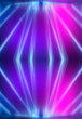 Leinwandbild Motiv Ultraviolet abstract light. Diode tape, light line. Violet and pink gradient. Modern background, neon light. Empty stage, spotlights, neon. Abstract light.