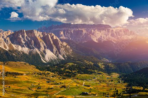 Photo View on Seceda peak