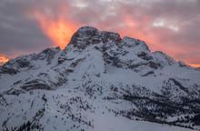 Fiery Sunset Behind The Croda ...