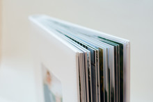 Open Book Pages In White Background. Wedding Books