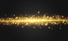 Vector Golden Light Special Ef...