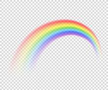Vector Isolated Rainbow Object...
