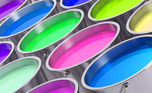Colorful Paint Can Background ...