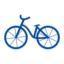 シンプルでかわいいオランダの自転車のイラスト