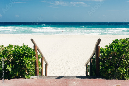 Path to beach, beach access, access to ocean for swimming and relaxing Wallpaper Mural