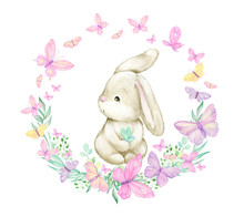 Cute Rabbit, Surrounded By But...