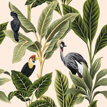 Tropical Vintage Botanical Bir...