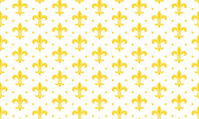 Seamless Pattern With A Gold R...