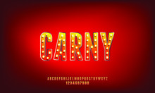 Carny, A Marquee Bold Modern Tall Condensed Sans Serif Font Vector Design