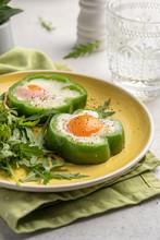 Fried Eggs Shamrock In Green P...