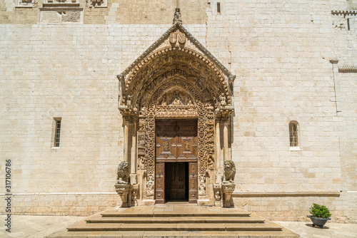 Entrance to the Cathedral of Santa Maria Assunta in Altamura, famous apulian town in the Province of Bari Wallpaper Mural
