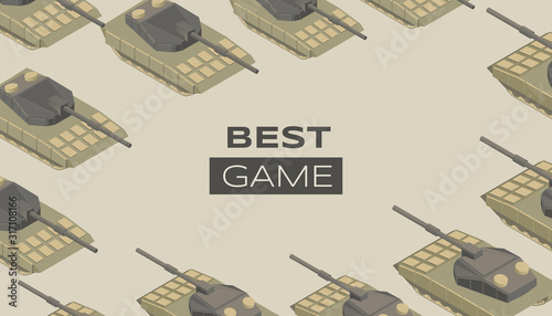 Best game flat banner vector template Wallpaper Mural