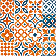 Seamless Tile Ornament In Patchwork Style. Grunge Texture. Print For Textiles. Vector Illustration.