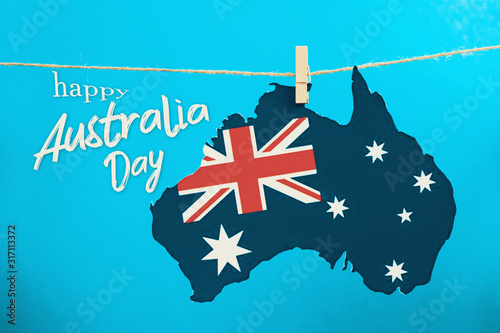 Australian national Holiday concept on January 26th