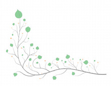 Frame Of Branches With Green L...