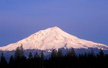Mount Shasta At Sunrise, California